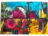 """André Bielen - Synopsie colorée """"Reflets de la ville"""""""